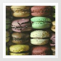 Macarons - Food Kitchen … Art Print