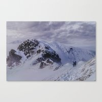 Hiking On Top Of The Wor… Canvas Print