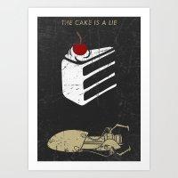 Lie Art Print