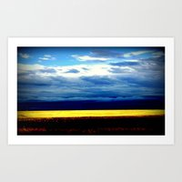 Golden Wheat Fields Art Print