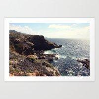 sea cliffs Art Print