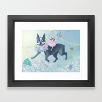 FLYING DOG Framed Art Print