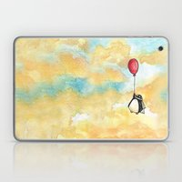 Penguin and a Red Balloon Laptop & iPad Skin
