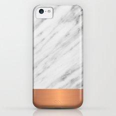 Carrara Italian Marble Holiday Rose Gold Edition iPhone 5c Slim Case