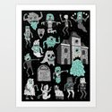 Wow! Ghosts!  Art Print