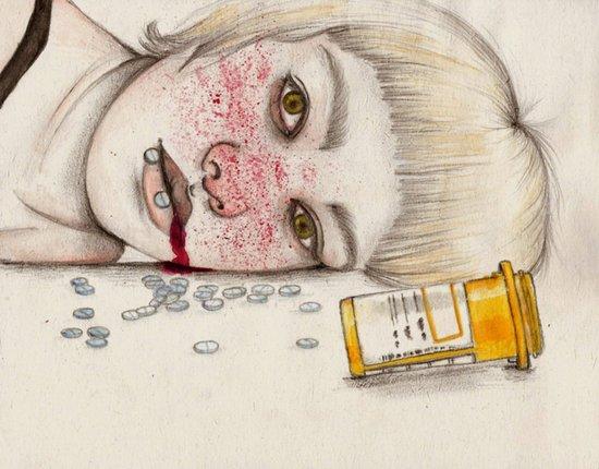 Suicide Art Print