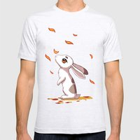 Autumn Hare Mens Fitted Tee Ash Grey SMALL