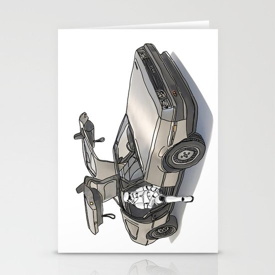 Stormtroooper in a DeLorean - star wars Stationery Card