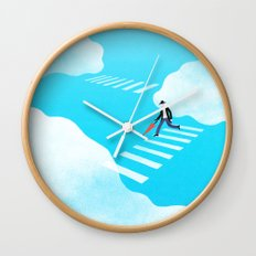 Walking on the sky Wall Clock