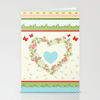 Abstract peace and love Stationery Cards