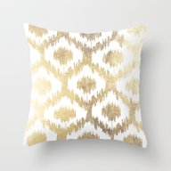 Modern White Hand Drawn … Throw Pillow