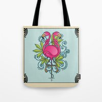 Knot A Flamingo Tote Bag