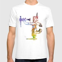 Industrial Clamp Mens Fitted Tee White SMALL