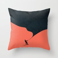 Night fills up the sky Throw Pillow