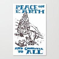 Peace On Earth 2014 Canvas Print