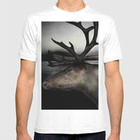 Tom Feiler Caribou Mens Fitted Tee White SMALL
