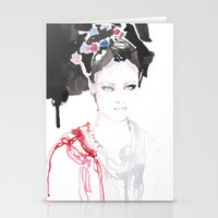 Watercolor illustrations Stationery Cards