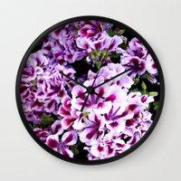 Martha Washington Gerani… Wall Clock