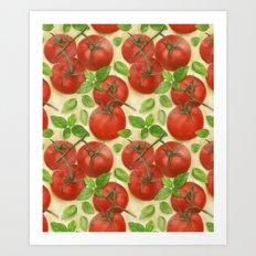 Tomato Salad Pattern Art Print