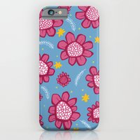 iPhone & iPod Case featuring Pop Flowers pink by Floating Lemons