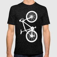 Mountain Bike Blue Mens Fitted Tee Tri-Black SMALL