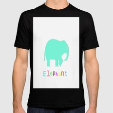 Elephant- Black SMALL Mens Fitted Tee
