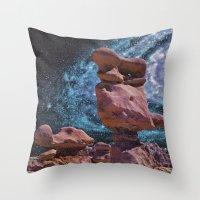 Space Rock Throw Pillow