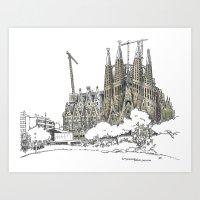 Sagrada Familia, Barcelona Art Print
