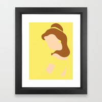 Belle - Beauty - Beauty and the Beast Framed Art Print