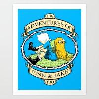 The Adventures Of Finn &… Art Print