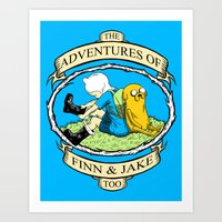 The Adventures Of Finn &… Art Print