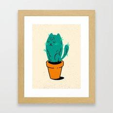 Cat-tus Framed Art Print