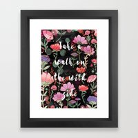 Take A Walk On The Wild Side Framed Art Print