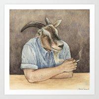 Goat Dad II Art Print