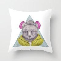 Heisenbear Throw Pillow