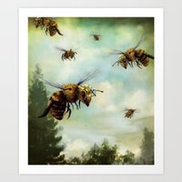 Crown Of Bees Art Print