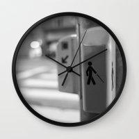 Paris crossing Wall Clock