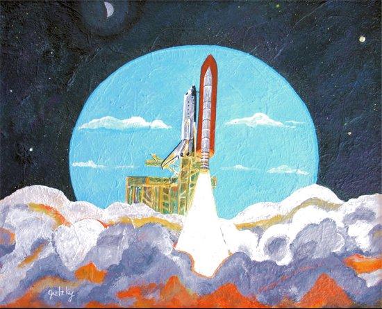 Shuttle Launch Art Print