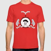 Black beard Mens Fitted Tee Red SMALL