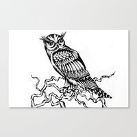 Owl Drawing July 2015 Canvas Print