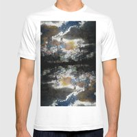 Broken Sky Mens Fitted Tee White SMALL