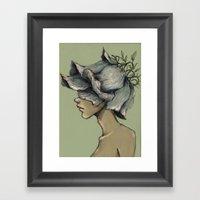 Leaf Boy Framed Art Print