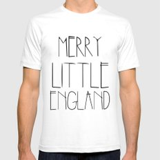 Merry Little England Mens Fitted Tee White SMALL