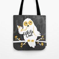White Owl Tote Bag