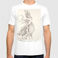 Fin and Feather Gown Mens Fitted Tee White SMALL