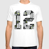 Seattle 12th Man - Black Mens Fitted Tee White SMALL