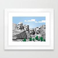 south dakota rocks Framed Art Print