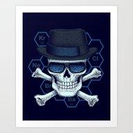 Chemical Head Art Print