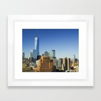 World Trade Center Freedom Tower NYC Framed Art Print