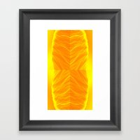 Golden Suitcase Framed Art Print